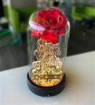 8 Mart Emekçi Kadınlar Günü Kırmızı Güllü Cam Fanu
