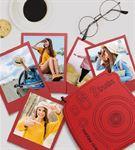 İnstax Palaroid Fotoğrtaf ve Ahşap Kutu Kırmızı