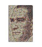 Atatürk Portre Mozaik Kanvas Tablo 20x30cm