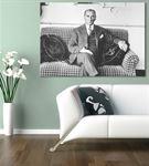 Atatürk Savanora Yatında Kanvas Tablo 75x100cm