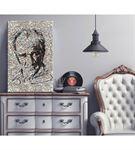 Atatürk ve İmzası Mozaik Kanvas Tablo 60x90cm