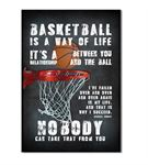 Basketbol Serisi B Kanvas Tablo 35x50 cm