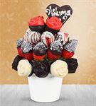Biricik Aşkıma Kek Meyve Sepeti Buketi
