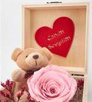 Canım Sevgilim ve Teddy Ayıcıklı Solmayan Gül