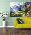 Dağ Manzarası Kanvas Tablo 35x50 cm