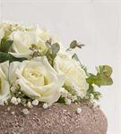 Dekoratif Saksıda 17 Beyaz Güller