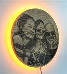 Güneş Tutulması Kişiye Özel Ahşap Işıklı Tablo