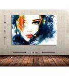 Kadın Portre 2 Büyük Boy  Kanvas Tablo 100x150 cm