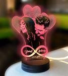 Kalpli Sonsuzluk Modelli 3D Gece Lambası
