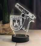 Kara Kuvvetleri Armalı Silahlı Led Lamba