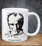 Kişiye Özel Atatürk İmzalı Kupa