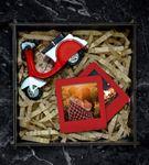 Kişiye Özel Fotoğraflı Vespa Hediye Seti Kırmızı