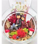 Kuru Çiçek Teraryum Sırt Sırta Çift 2-Ebama0036