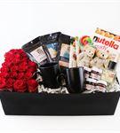 Kutu İçerisinde Ekvator Kırmızı Güller