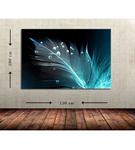 Mavi Yaprak Büyük Boy  Kanvas Tablo 100x150 cm