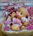 Mini Elma Biberonlu Kız Bebek Teraryum-Ebame0069