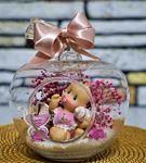 Mini Elma Sevimli Kız Bebek Teraryum-Ebame0080