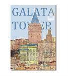 Nostalji Galata Serisi A Kanvas Tablo 60x90 cm