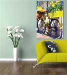 Nostaljik Bisiklet Serisi A Kanvas Tablo 75x100 cm