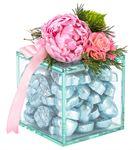 Nude Serisi Yaldızlı Kalp Çikolata - Açık Mavi