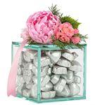 Nude Serisi Yaldızlı Kalp Çikolata - Gümüş