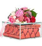 Nude Xl Serisi Kırmızı Yaldızlı Kalp Çikolata