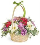 Renkli Kelebekler Çiçek Sepeti Aranjmanı
