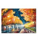 Renkli Sonbahar Kanvas Tablo 20x30 cm
