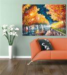 Renkli Sonbahar Kanvas Tablo 60x90 cm