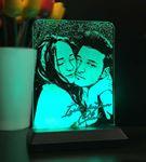 Resimli Dikey Dikdörtgen 3d Led Gece Lambası