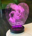 Sevgililer Gününe Özel 3d Kalpli Gece Lambası