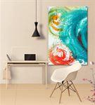 Soyut Mavi Kanvas Tablo 35x50cm