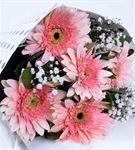 Tatlı Hayaller 5 Pembe Gerbera Çiçek Buketi