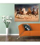 Toz Bulutunda Koşan Atlar Kanvas Tablo 50x70cm