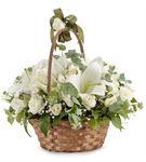 Varano Sepette Beyaz Lilyum ve Beyaz Güller