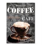 Vintage Coffee Kanvas Tablo 50x70cm