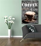 Vintage Coffee Kanvas Tablo 60x90cm