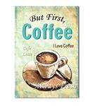 Vintage Coffee Latte Kanvas Tablo 35x50cm