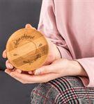 Anneye Hediye Bambu Tabaklı 6lı Fincan Seti