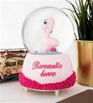 Aşık Flamingolar Müzikli Kar Küresi