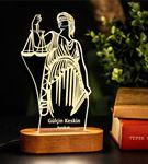Avukatlara Hediye İsimli 3d Led Lamba