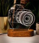 DSLR Fotoğraf Makinası Tasarımlı 3D Led Lamba