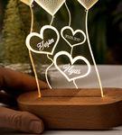 Kişiye Özel Kalp Tasarımlı 3 Boyutlu Led Lamba