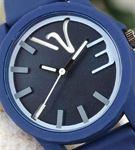 Lacivert Silikon Kordonlu Mavi Renk Detaylı Spor K