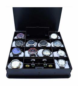 12'Li Saat Kutusu Ahşap Kol Düğmesi Ve Mücevherlik