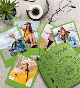 İnstax Palaroid Fotoğrtaf ve Ahşap Kutu Yeşil