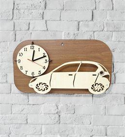 Araba Severler İçin Ahşap Duvar Saati