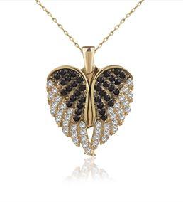 Aşkın Kanatları İsimli Altın Kaplama Gümüş Kolye