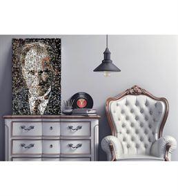 Atatürk Portre 2 Mozaik Kanvas Tablo 35x50cm
