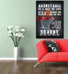 Basketbol Serisi B Kanvas Tablo 20x30 cm